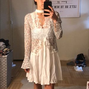 🆕 white lace cover up